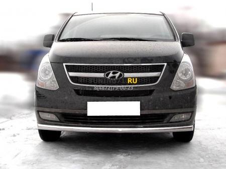Hyundai H1 2007-наст.вр.-Дуга передняя по низу бампера радиусная одинарная d-60